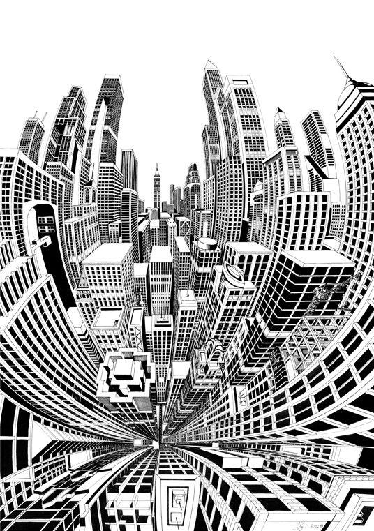 eyefull by josh raymond via behance comic pinterest perspektive bilder ideen und siebdruck. Black Bedroom Furniture Sets. Home Design Ideas