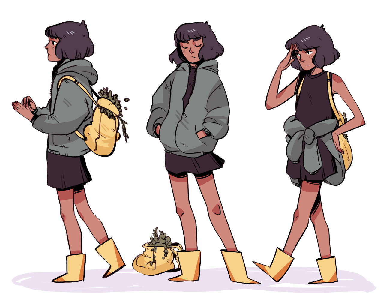 rethinking some character designs for a potential comic