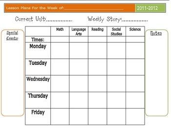 homeschool lesson planner excel