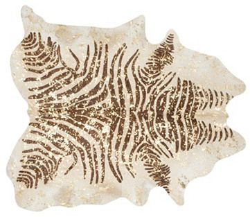 Large Devore Zebra Hide, Gold/Brown on shopstyle.com
