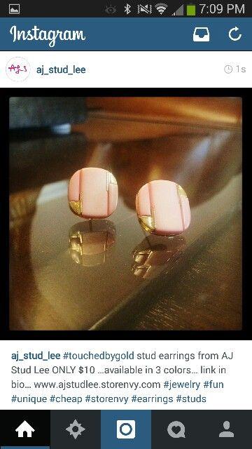 Stud earings from AJ Stud LEE …only $10 www.ajstudlee.storenvy.com #jewelry #fun #unique follow us on twitter! @aj_stud_lee