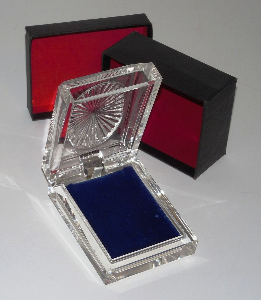 Clear Lucite Rocket Jewelry Gift/Presentation Box W/Velvet Interior & Outer Box #RocketJewelryBox