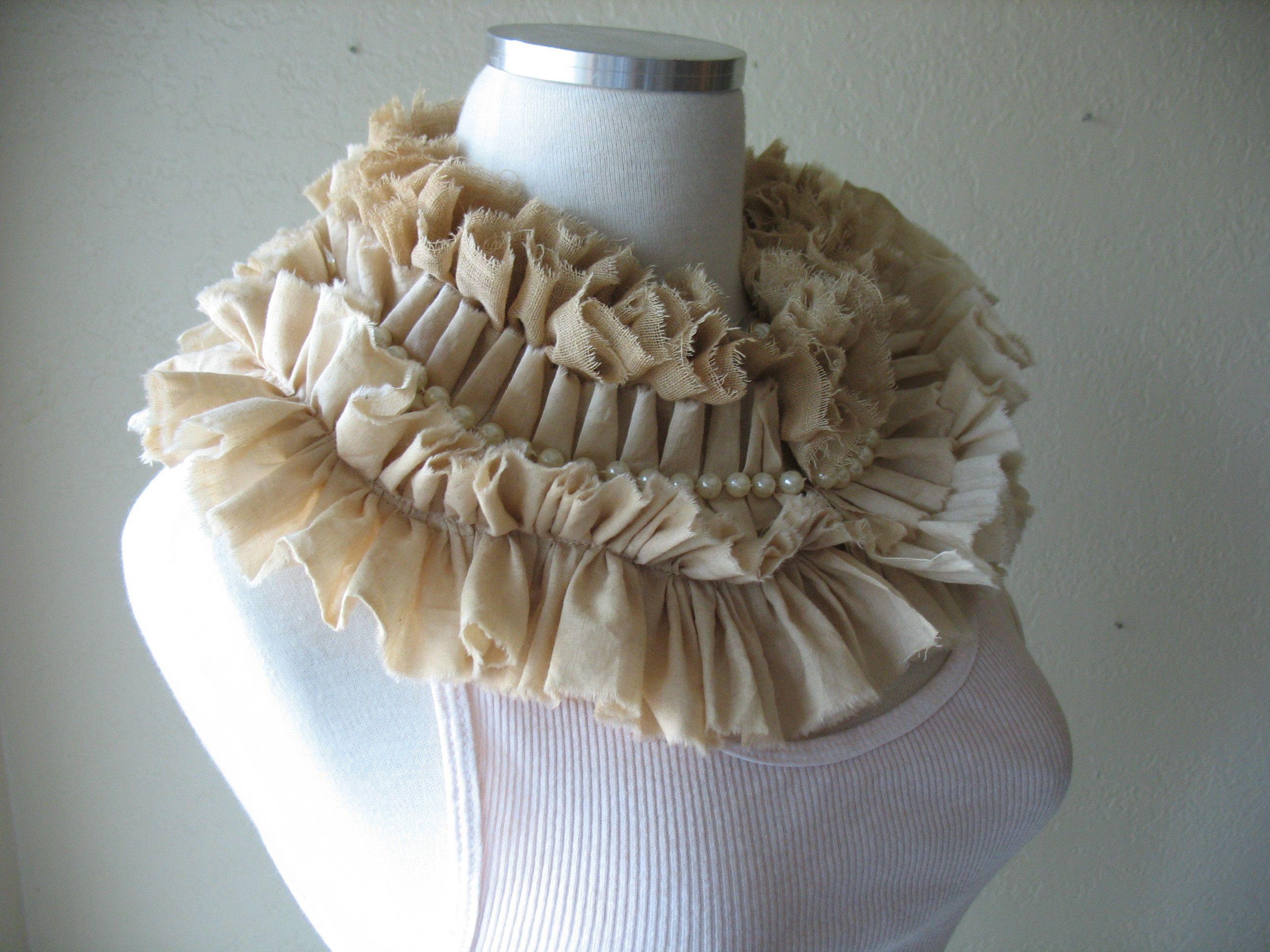Modern Elizabethan collar @  MaggieGlynn.etsy.com