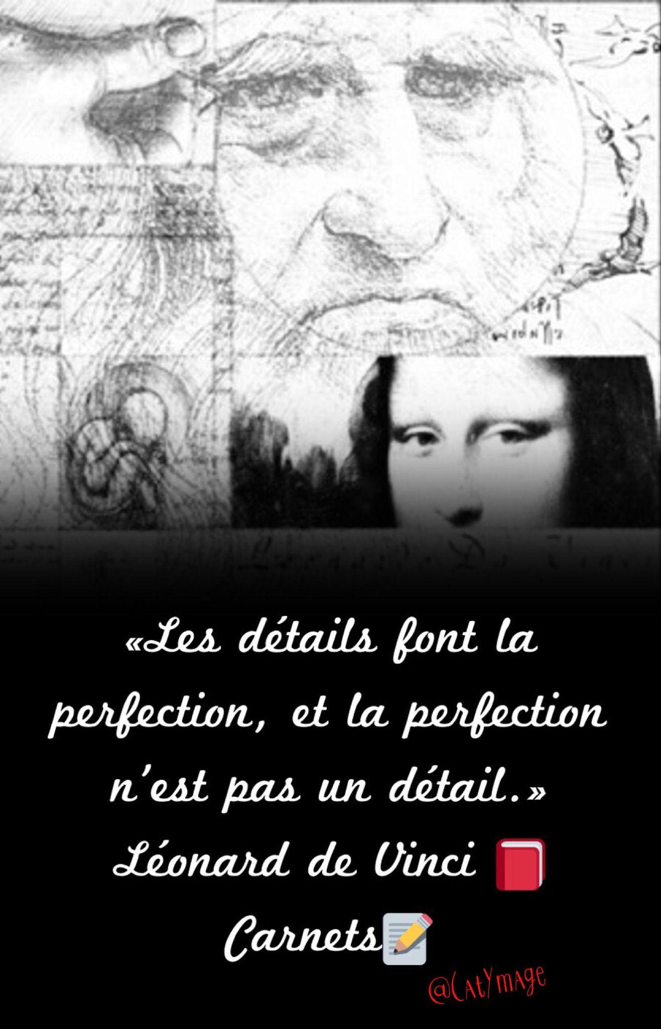 Les Détails Font La Perfection Et La Perfection N'est Pas Un Détail : détails, perfection, n'est, détail, Détails, Perfection,, Perfection, N'est, Détail.», Léonard, Vinci, Carnets, Leonard, Vinci,