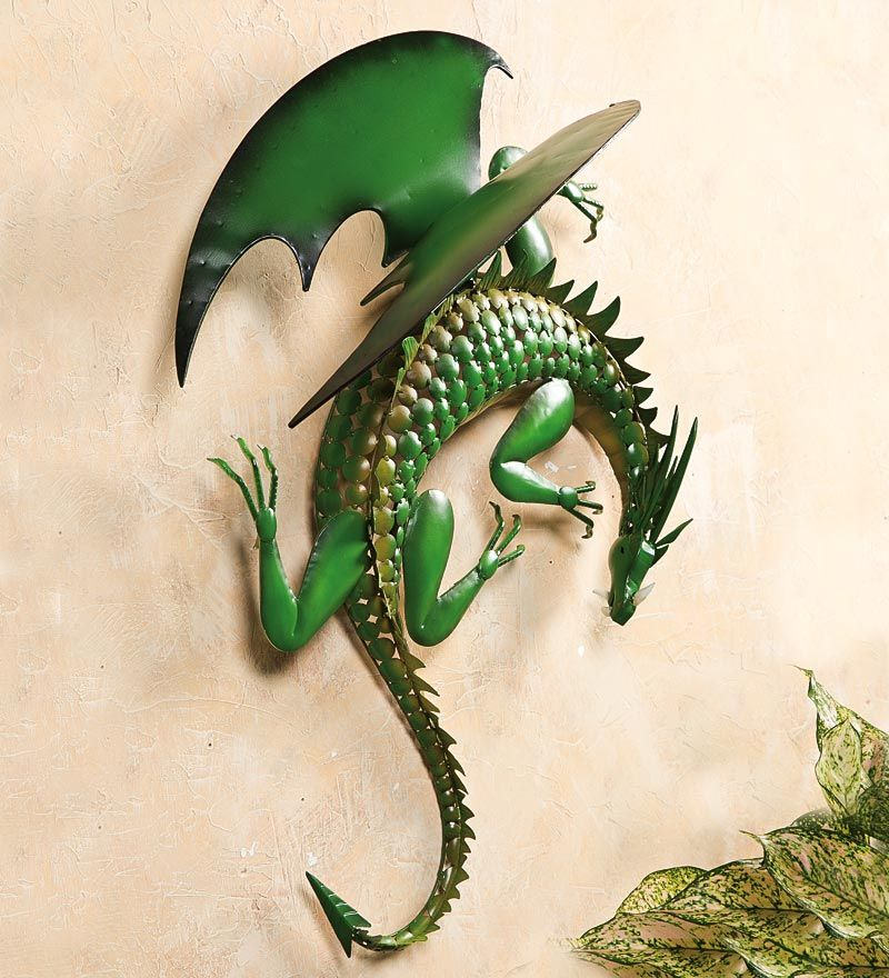 Climbing Green Dragon Metal Wall Art... New Item At Wind U0026 Weather.