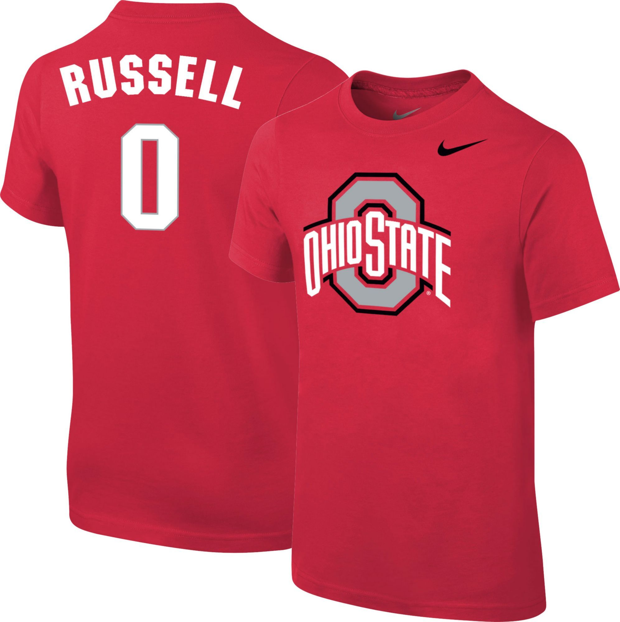 875e4a054 Nike Youth Ohio State Buckeyes D Angelo Russell  0 Scarlet Future Star  Replica Basketball Jersey T-Shirt