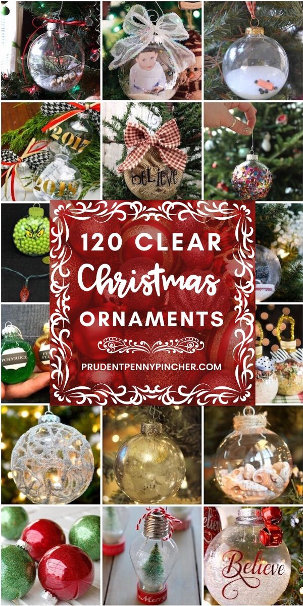 120 DIY Clear Glass Christmas Ornaments