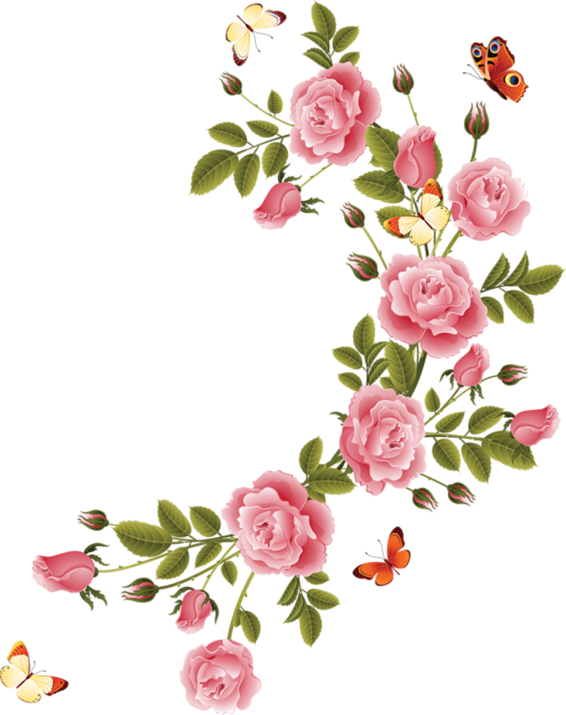 Borders And Frames Small Flowers Beautiful Rose Decoupage Paper