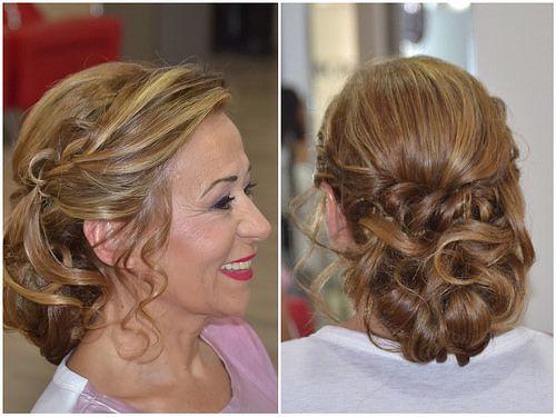 estilismo con romy recogidos informales con pelo largo para bodas y eventos