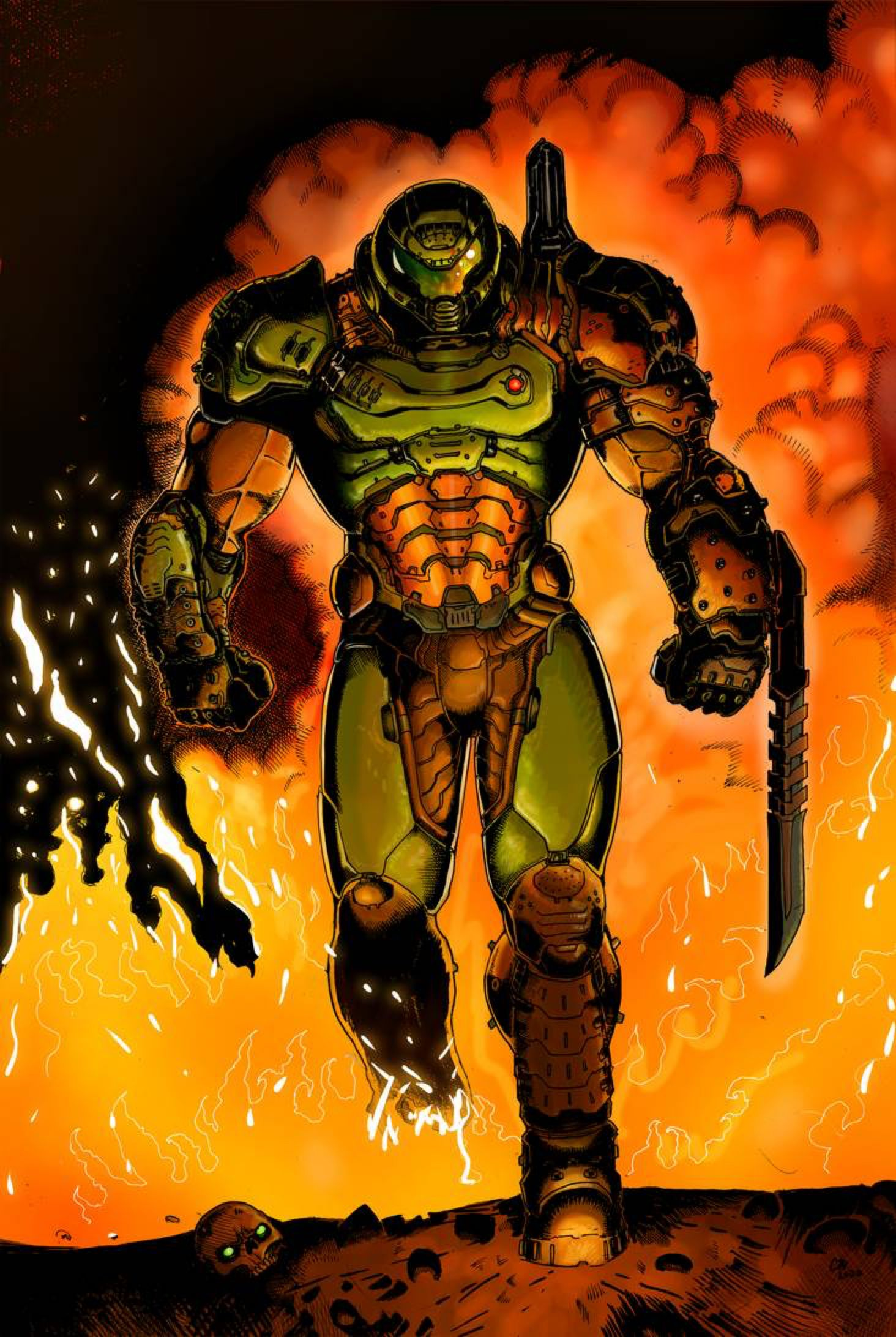 Doom Slayer color by ChristianWillett on DeviantArt in