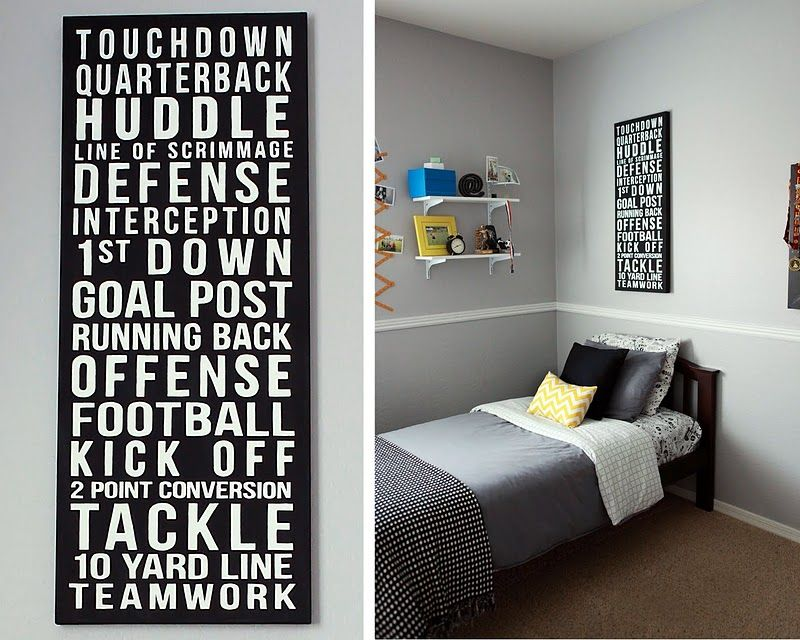 Tween Boy Room Redo Football Rooms Boys Bedrooms Football Bedroom