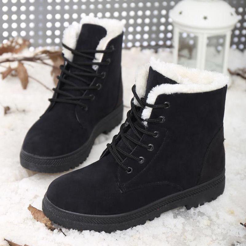 151a7725cc40 Classic Women s Snow Boots Fashion Winter Warm Girl Short Boots Stylish  Flattie W