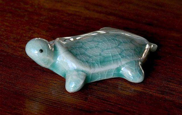 Korean Hashioki Turtle Ceramic Miniature Art Ceramics Turtle