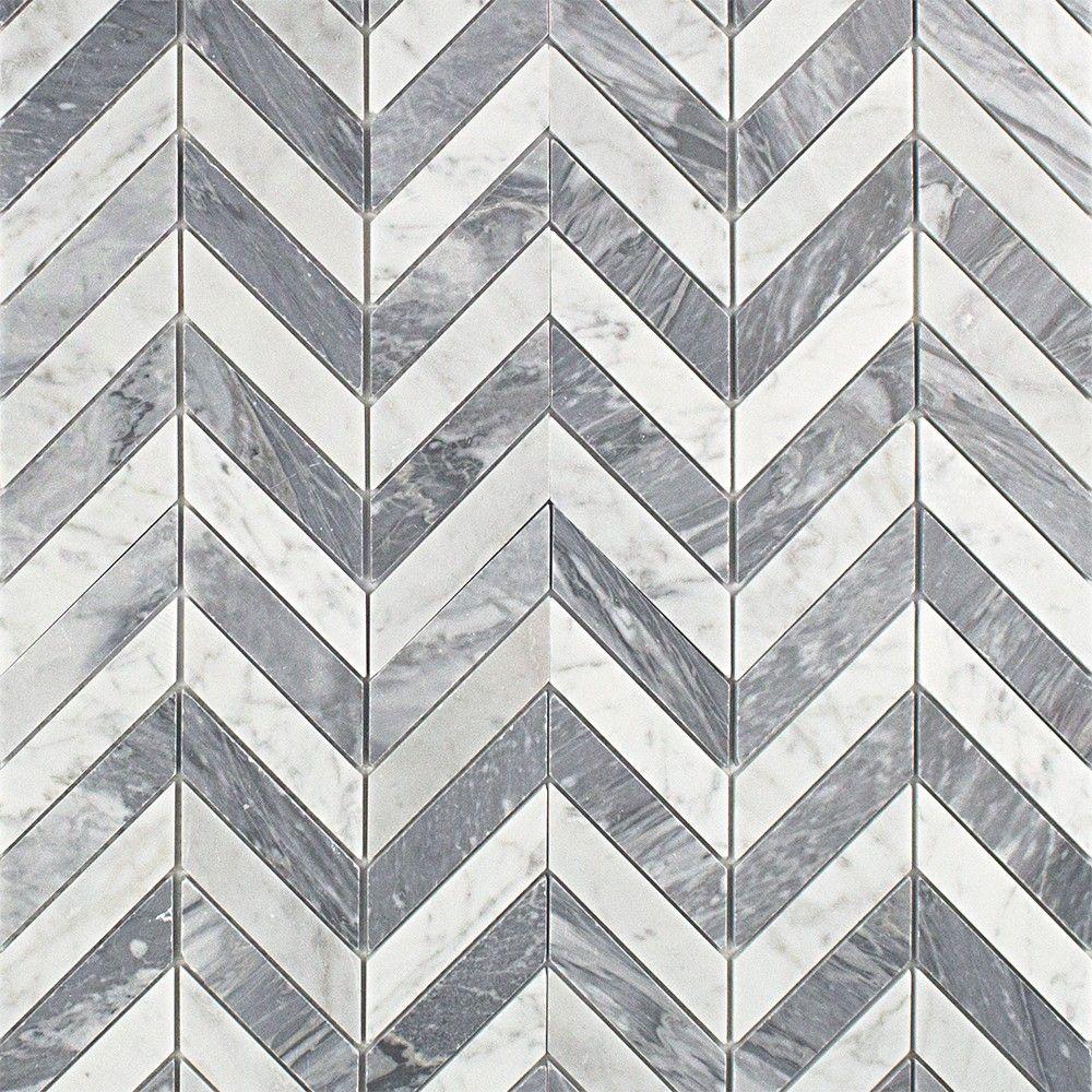 Talon Carrara Bardiglio Marble Tile Marble Mosaic Tiles Marble Mosaic Splashback Tiles