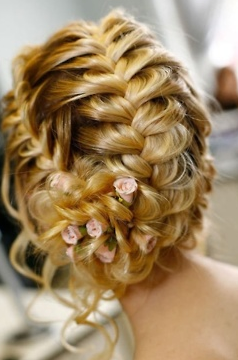 Beautiful hair with flowers