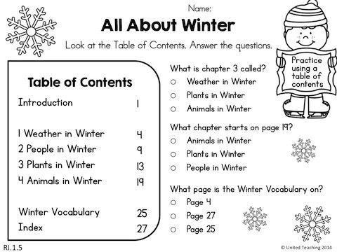 winter 1st grade literacy worksheets common core aligned. Black Bedroom Furniture Sets. Home Design Ideas