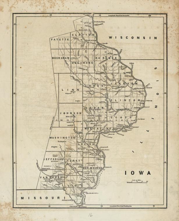 Early Iowa 1842 Mapmania Pinterest Iowa Map And New York