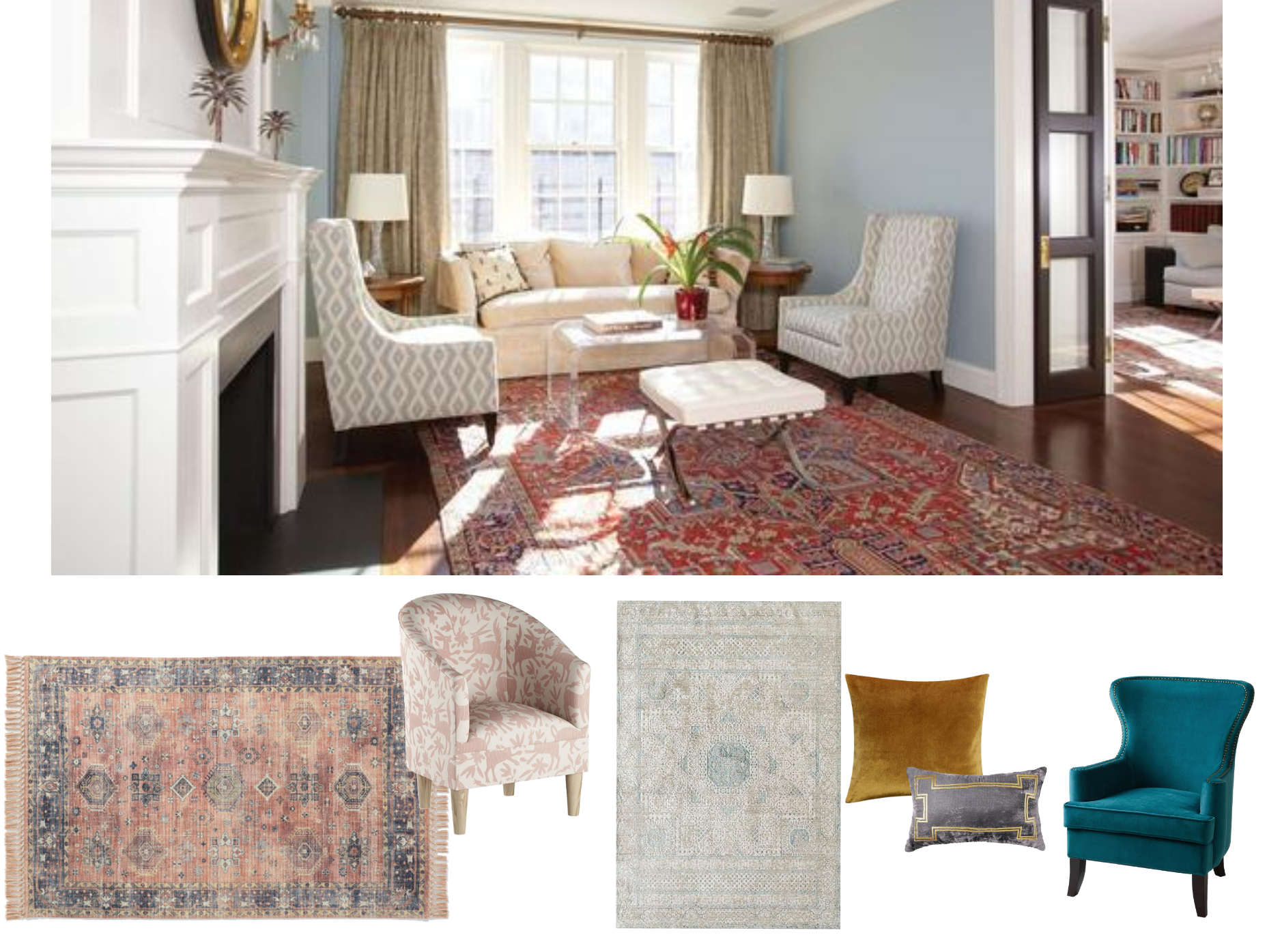 Would A Persian Rug Go With A Paisley Chair Paisley Chair Rugs Furniture For You #persian #rug #modern #living #room