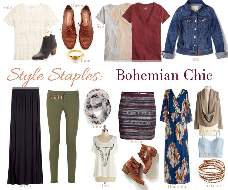 Style Staples Bohemian Chic Wear Closet Staple Love Pinterest Bohemian Boho And Wardrobes