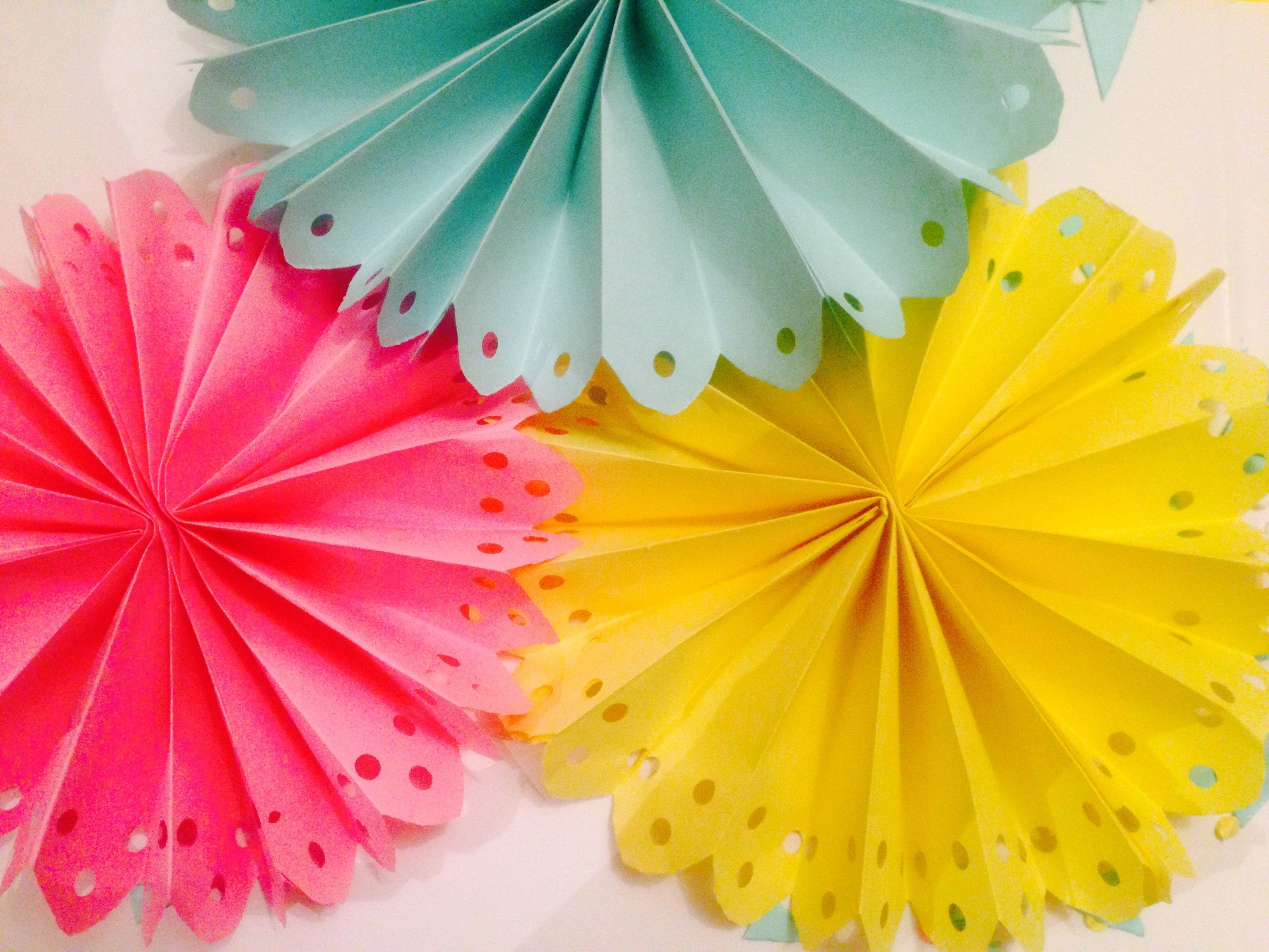 DIY Decorated Paper Fan Backdrop Wedding Party Decorations EASY