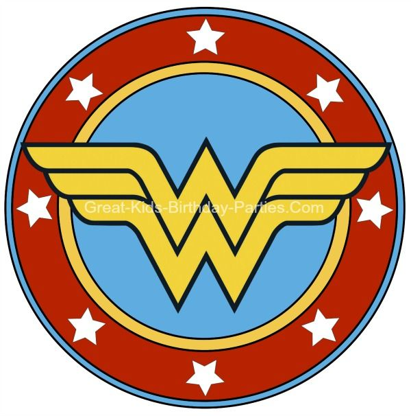 Free Superhero Printables Wonder Woman printable sticker small