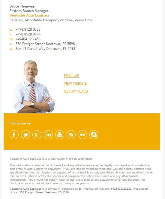 64 Email Signature Designs Download Edit Easily Marketing