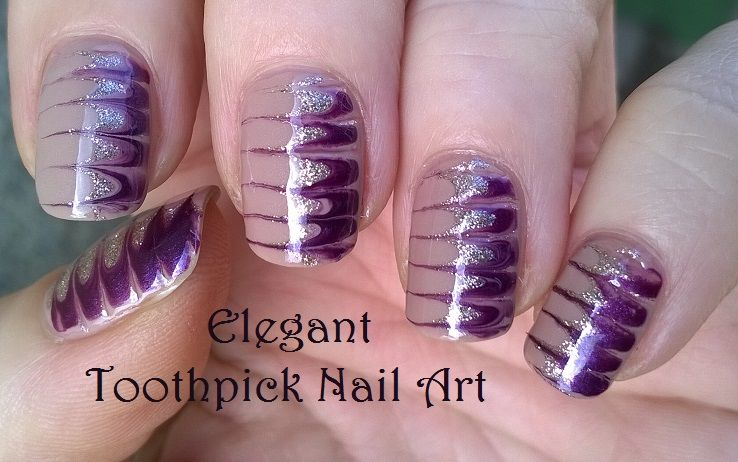 Elegant #melted #nails / #Toothpick #nailart - For more easy ...