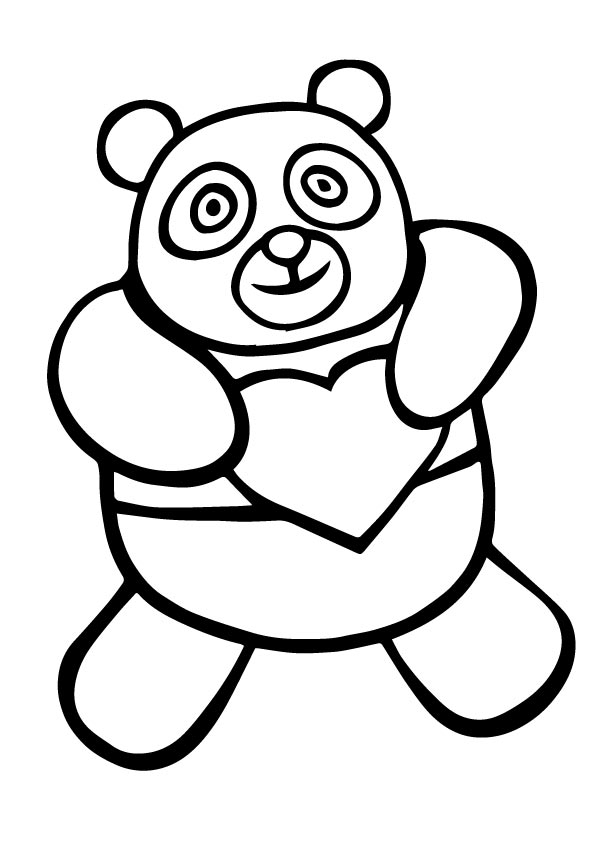 Panda Bear Coloring Page, FREE Coloring Page Template