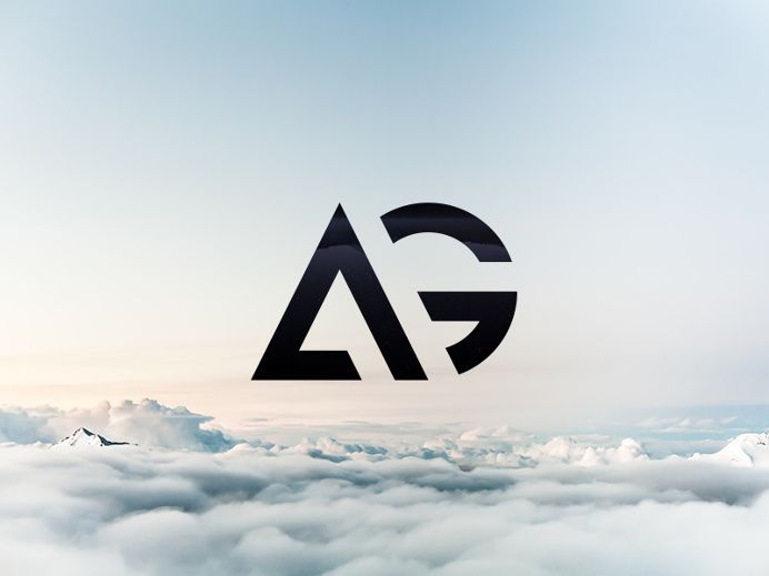 AG - The finished logo by Maxime Siméon on | Logos, Logo ideas and ...