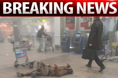 Inside Brussels airport: Shocking footage captures carnage moments after deadly blasts