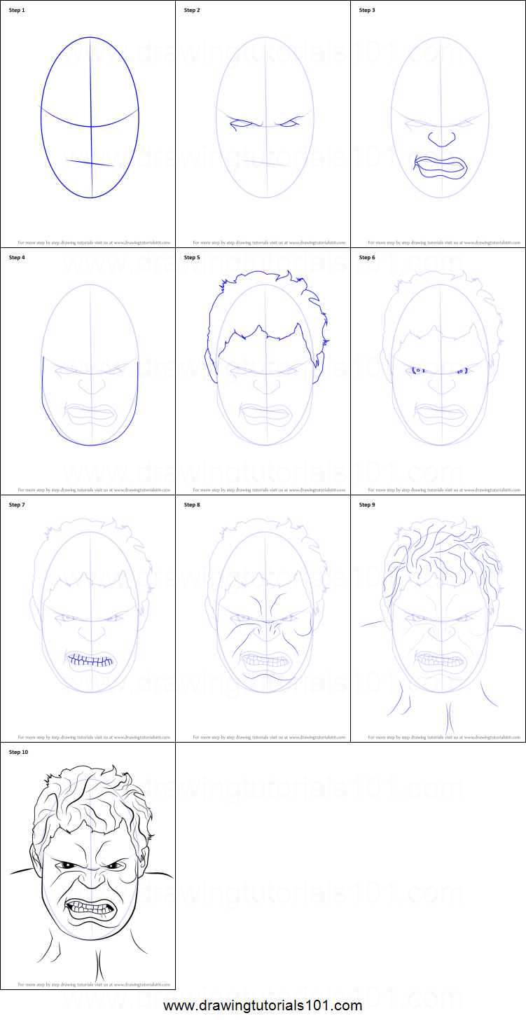 how to draw the hulk face step by step printable drawing sheet to print learn how to draw the hulk face