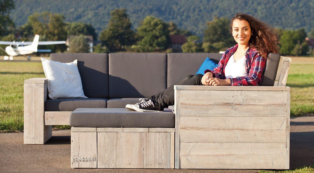Loungemöbel outdoor holz  Edle Loungemöbel & Gartenmöbel aus gebrauchtem Holz » WITTEKIND ...