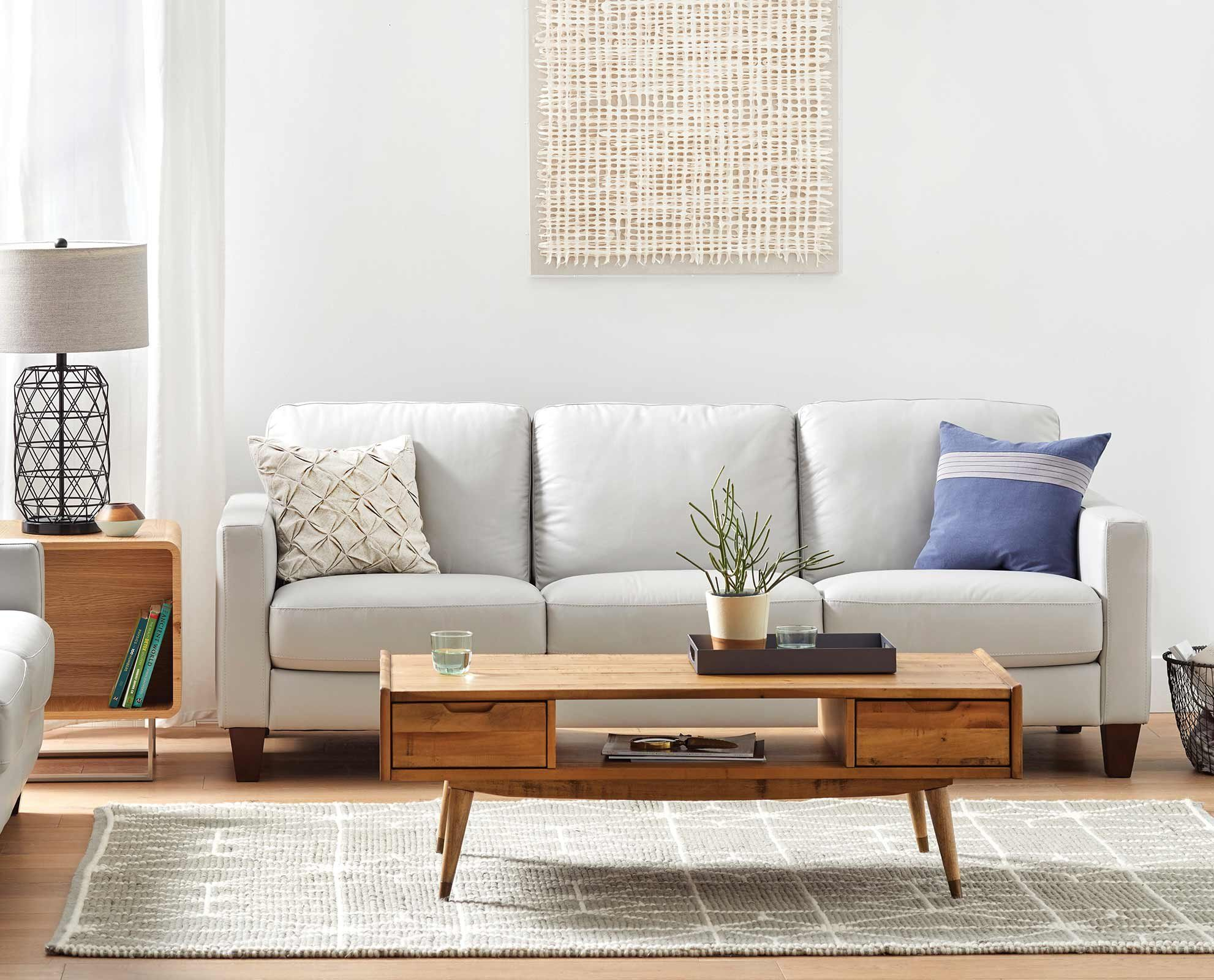 Interior Design Decor On Instagram Scandinavian Living Room By Holmstrom Gruppen Living Room Scandinavian Leather Sofa Living Room Sofa Scandinavian Style
