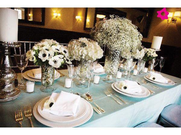 Arreglos de mesa con nubes como flores de boda ****Awesome - arreglos de mesa