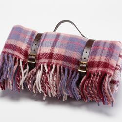 Tweedmill Polo Pure New Wool Picnic Rug With Fringe
