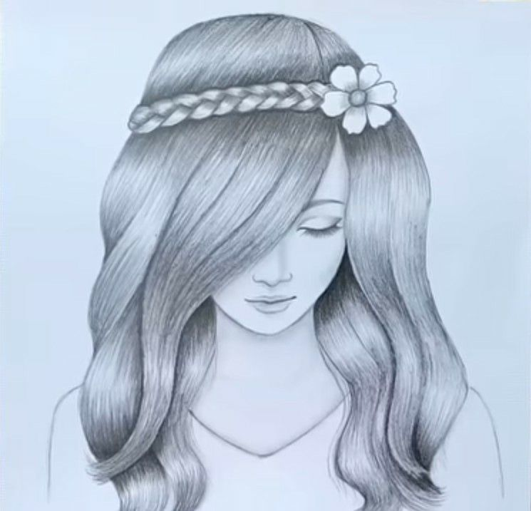 Pin By Faiza S Diary On Artsy Art Drawings Sketches Simple Beautiful Girl Drawing Pencil Drawing Inspiration