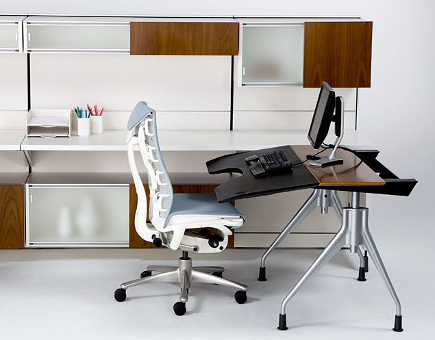 Herman Miller Envelop Desk and Embody Chair I own both and they are  fantastic