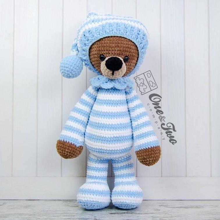 Ravelry: Easy-peasy teddy-bear — crocheted in one piece pattern by ... | 756x756