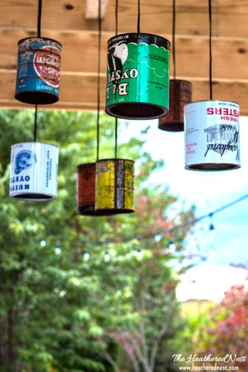 Tin can diy outdoor lighting tutorial you can do this repurposed tin can diy outdoor lighting tutorial you can do this mozeypictures Choice Image