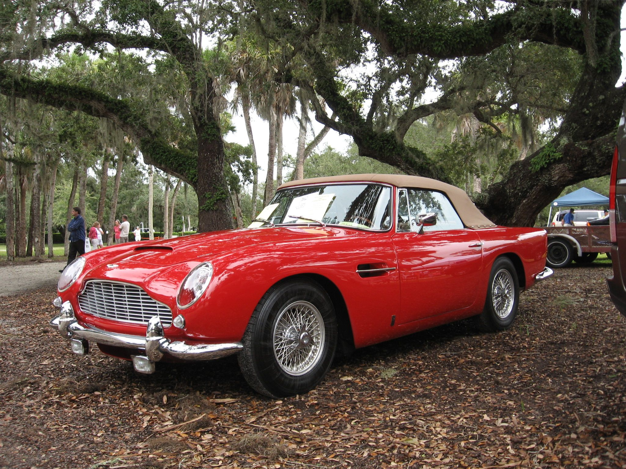 1964 Aston Martin Db5 With Its Top Covered Aston Martin Db5 Aston Martin Classic Cars