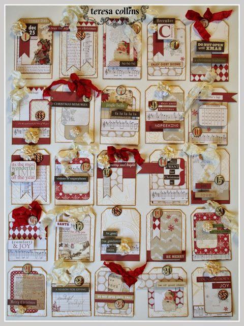 Teresa Collins eBosser In Time for the Holidays Blog Hop! Advent Tutorial by Cheri Piles - TERESA COLLINS DESIGN TEAM