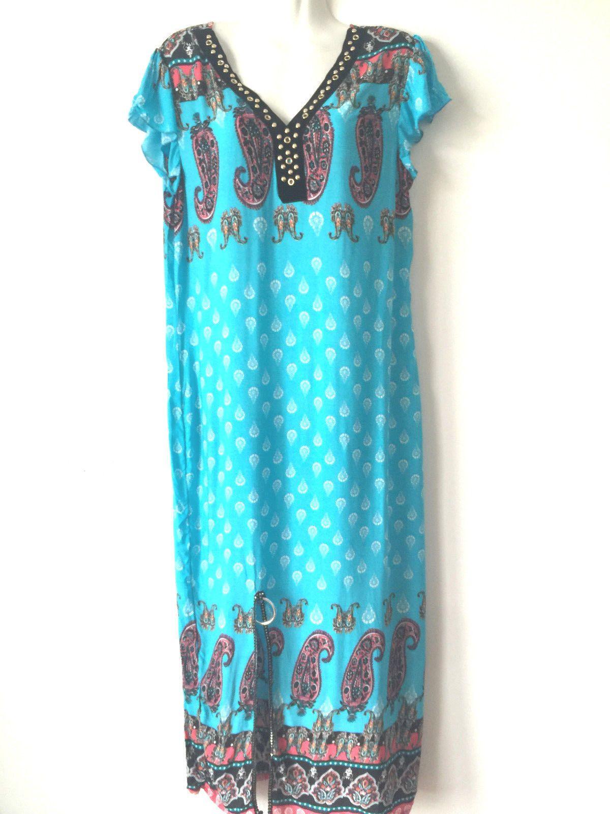 Women Summer Evening Party Beach Long Maxi Cotton Sundress Casual ...