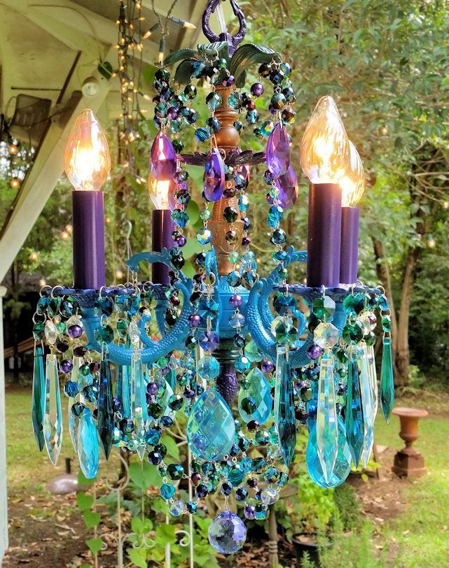 Vintage peacock petite chandelier gorgeous crystal chandeliers vintage peacock petite chandelier aloadofball Images