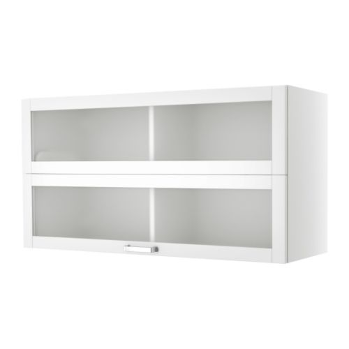VÄRDE Glass Door Wall Cabinet   White   IKEA Above Existing Cabinets For  More Storage!