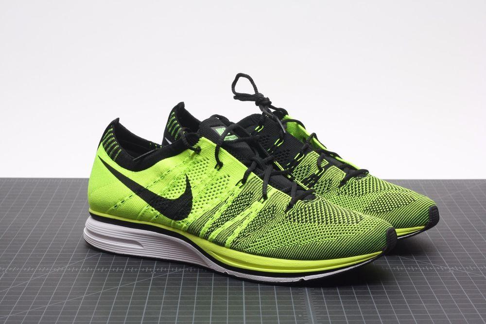 31c66f8a990c eBay  Sponsored 2012 Nike Flyknit Trainer Volt 532984-700 HTM Multi Color  Volt Black Olympic