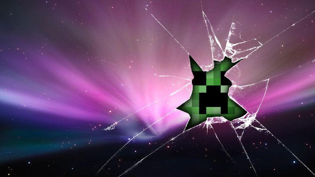 New Minecraft Creeper Background Any One Like D Computer Screen Wallpaper Minecraft Wallpaper Broken Screen Wallpaper