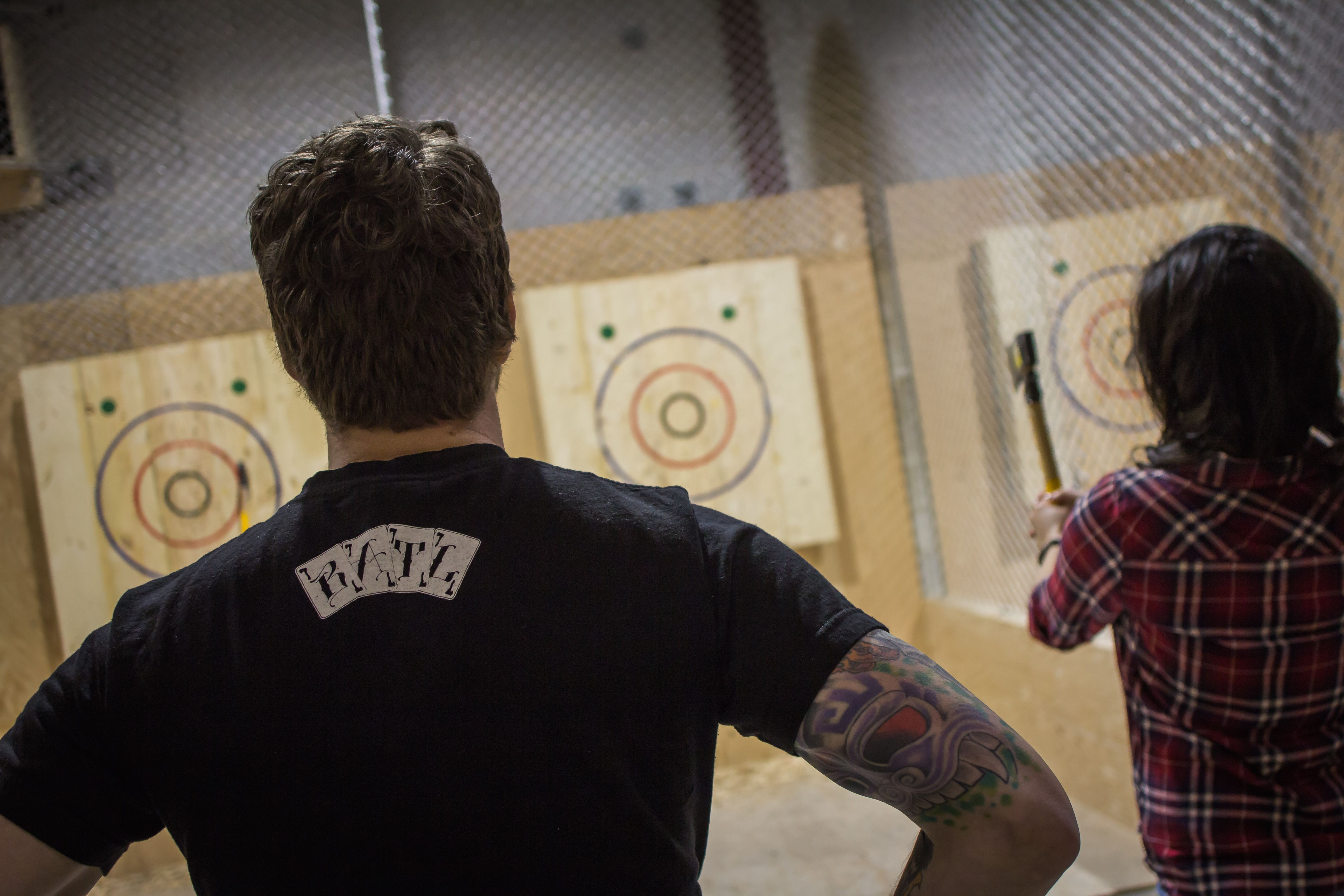 Walk In Axe Throwing | Mens tshirts, Mens tops, Walking