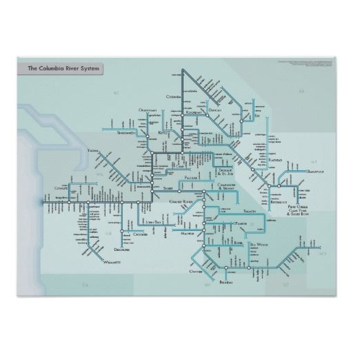 """Columbia River transit system map 18"""" x 24"""" Poster"""