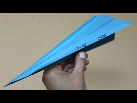 Como Hacer Un Avion De Papel Que Vuela Mucho Y Rapido Planeador Casero Youtube Como Hacer Un Avion Aviones De Papel Sobres De Papel