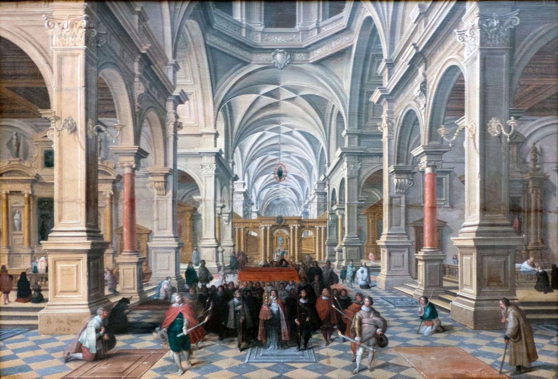 Innenansicht einer Kirche, Bartholomeus van Bassen - Berlino, Gemaldegalerie
